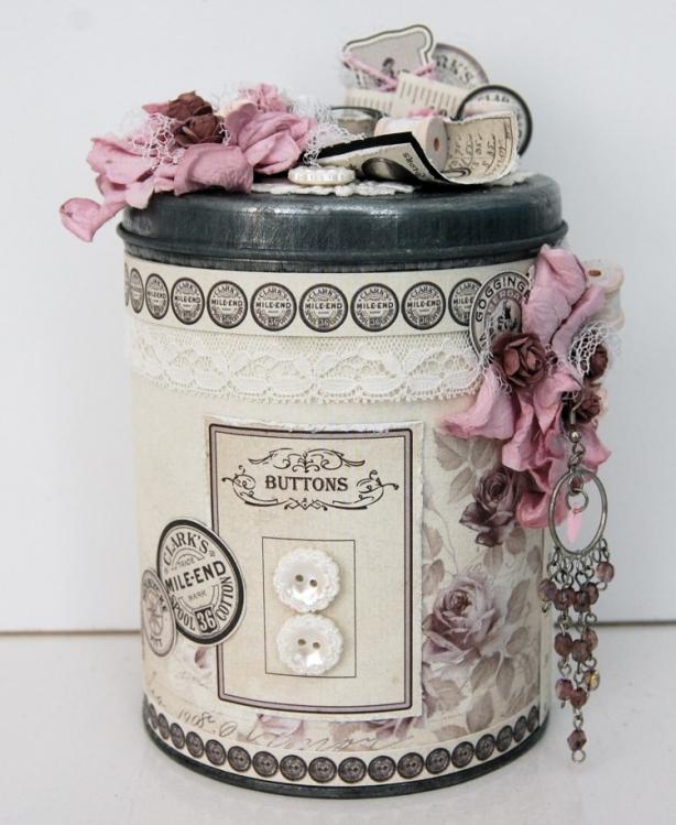 Can for buttons pion design 39 s blog - Decorar estilo shabby chic ...