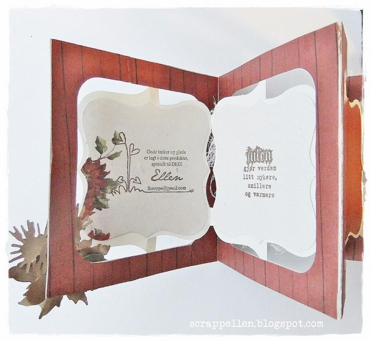 Christmas mini album and a gift-tag