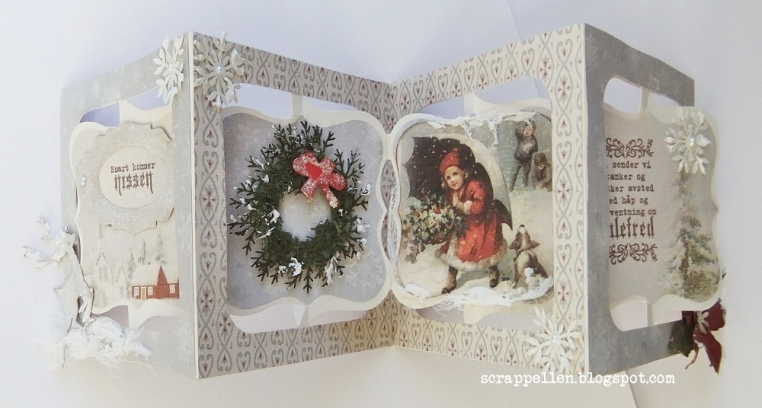 Christmas mini album and a gift-tag