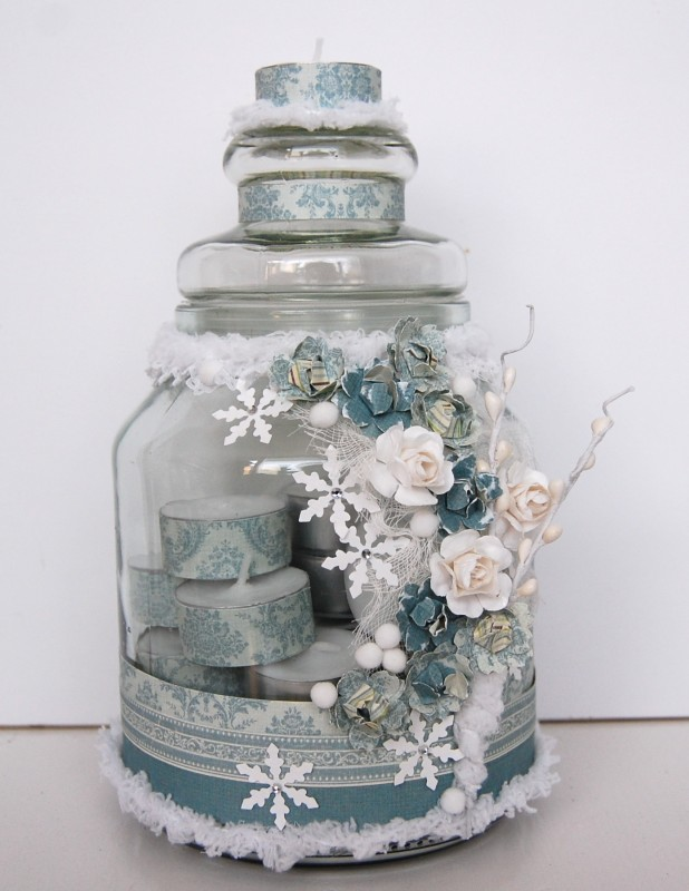 candle glass jar