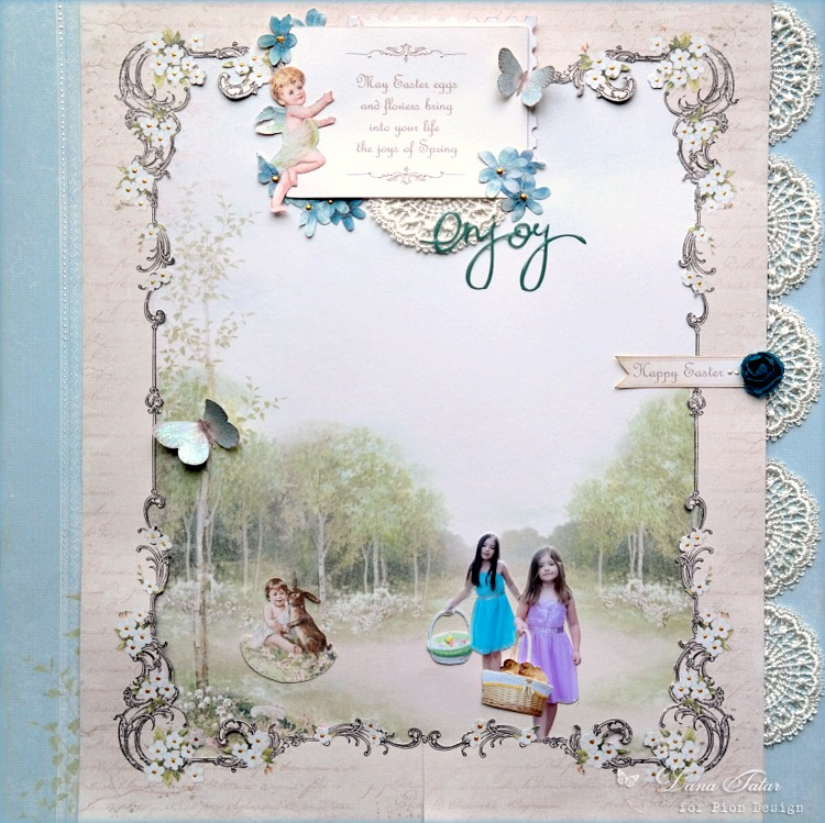 Enjoy - Easter Greetings Layout by Dana Tatar for Pion Design
