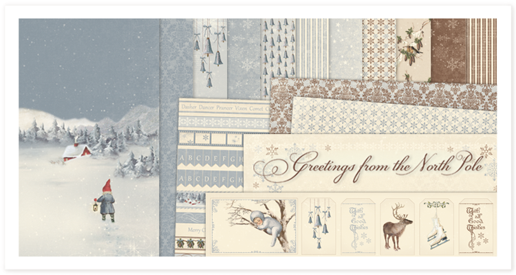 Release greetings from the north pole pion designs blog this year pion design wants to share the magic of winter and christmas with the paper collection greetings from the north pole this collection invites you m4hsunfo
