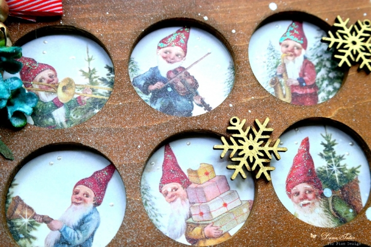 Greetings from the North Pole Elf Shadowbox by Dana Tatar